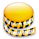caution tape icon
