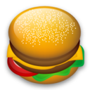 hamburger, 128, fast food, food icon