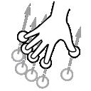 finger, five, swipe, gestureworks icon