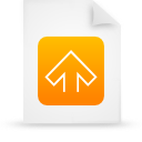 file, orange, paper, document icon