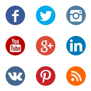 Social Network - color icon sets preview