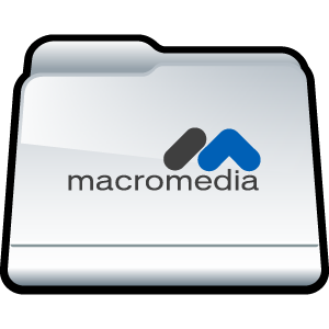 macromedia, folder icon