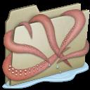 kraken, lightbrown icon