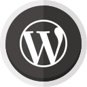 wordpress, wordpress logo, online blogging icon