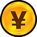 finance, coin, payment, yen, currency, japan icon