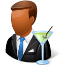 male, bartender icon