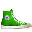 converse, green, dirty icon