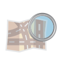 road, and, zoom, magnifier, map, find, glass icon