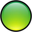 green, empty, blank, button icon