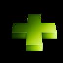 3d, Green, Plus icon