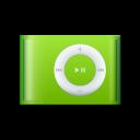 shuffle, ipod, green icon