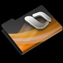 powerpoint,dark,overlay icon