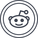 media, social, logo, reddit icon