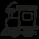 Locomotive hand drawn toy icon