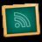 green, blackboard, rss, subscribe, learn, teach, feed, teaching, school, education icon
