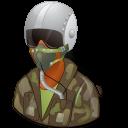 pilotmilitary, dark, female icon