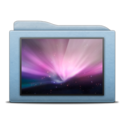 Folder Blue Wallpapers icon