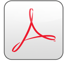 adobe, acrobat icon