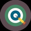 dart, target, game icon