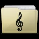 beige folder music alt icon