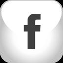 facebook, grey icon