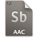 Aac, Document, File, Sb, Secondary icon