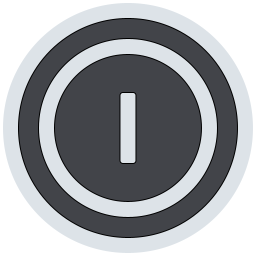 shutdown, power off, turn off, shut down icon