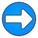 arrow, right, circle icon