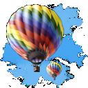 baloon, travel icon