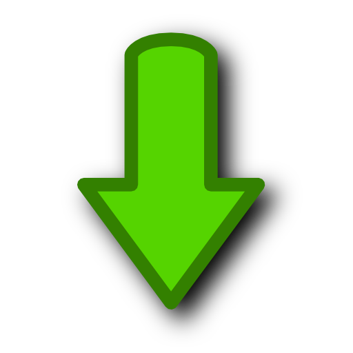 arrow, decrease, down, descending, descend, download, fall icon