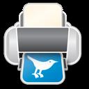 printer, twitter icon