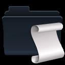 folder, script, badged icon