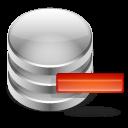 minus, db, remove, database icon