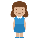 blue, person, girl, child, kid, avatar, female icon