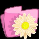 folder flower beige icon