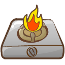 fire, camping icon