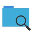finder, file, blue, magnifying glass, explorer, folder icon