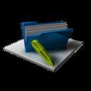 Blue Folder Full Edit icon