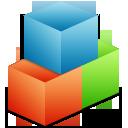 organize, module, box icon