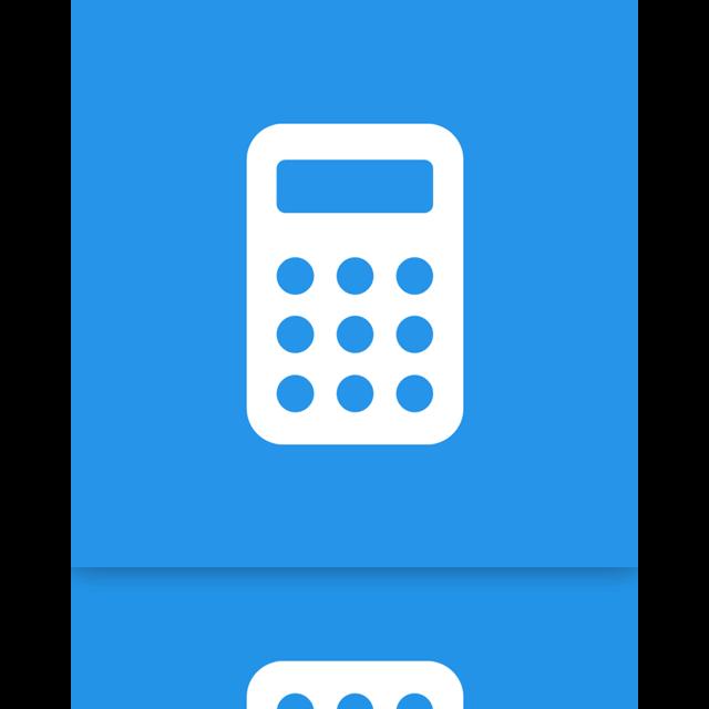 calculator, mirror icon