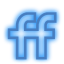 set, social, neon, media, fiendfeed icon