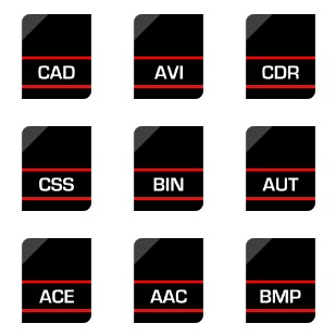 File Extensions icon sets preview