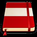 moleskine red white 512 icon