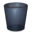 recycle bin, blank, trash, onyx, empty, folder icon