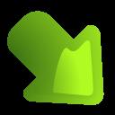 decrease, arrow, next, green, correct, descending, descend, right, yes, fall, forward, rightdown, download, ok, down icon