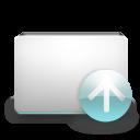 upload, rise, folder, ascending, up, ascend, increase icon