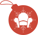 readability, christmas, ball icon
