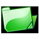 open, green, folder icon