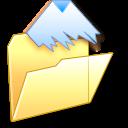 folder, document, paper, file, temporary icon