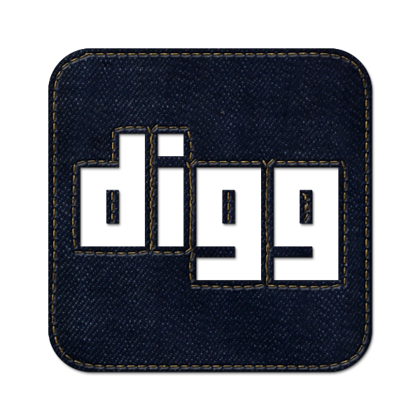 logo, digg, denim, social, square, jean icon